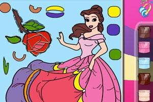 可爱公主上颜色