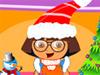 朵拉圣诞装扮