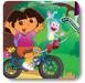 朵拉带小猴骑单车