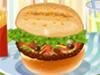 装饰美味的汉堡
