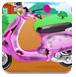 芭比清理摩托车