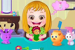 可爱榛果宝贝的美丽发型