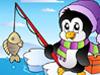 企鹅钓鱼拼图