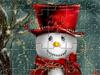 可爱的圣诞雪人拼图