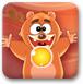 可爱熊吃糖果